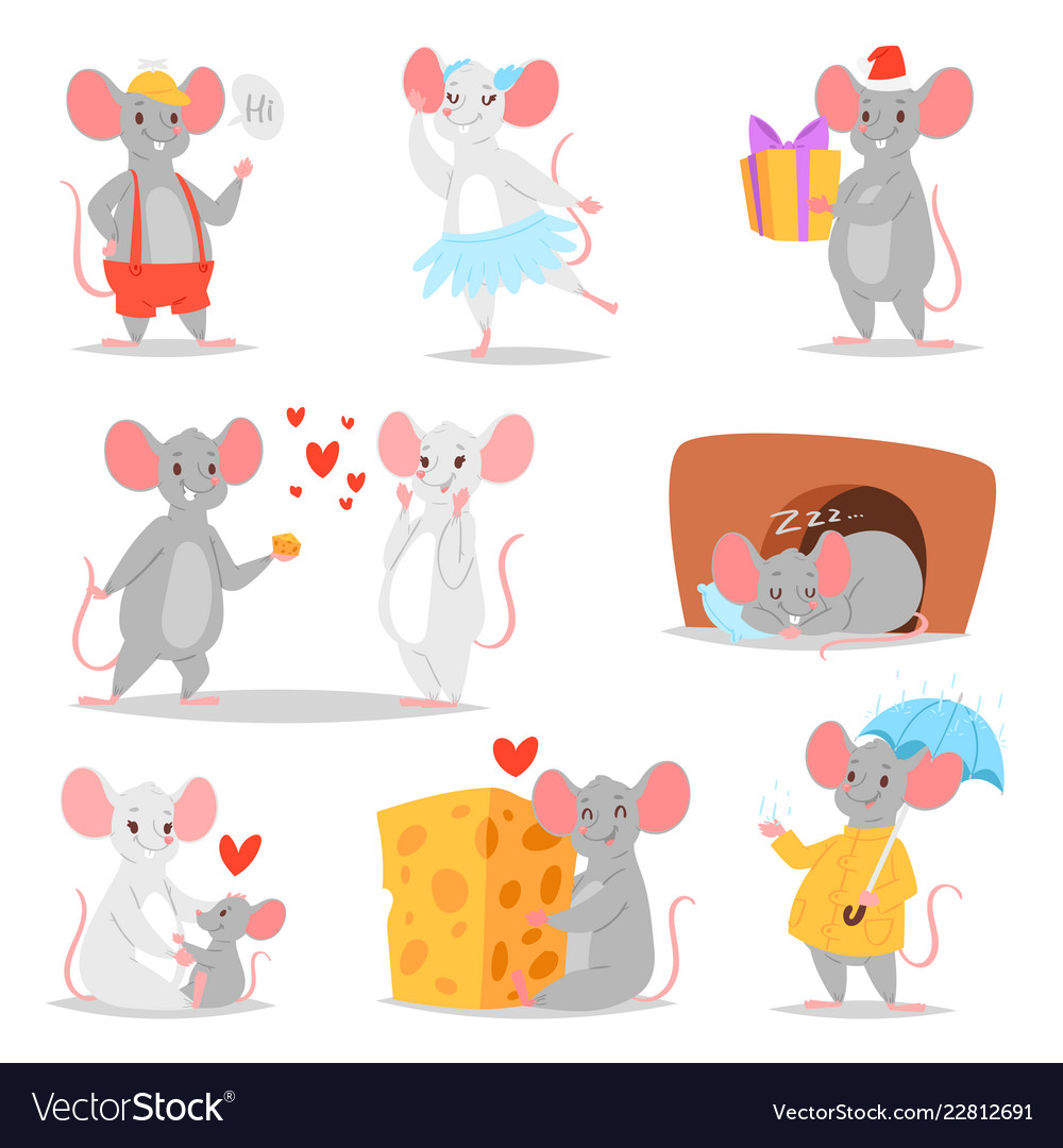 Cartoon mouse mousy animal character rodent