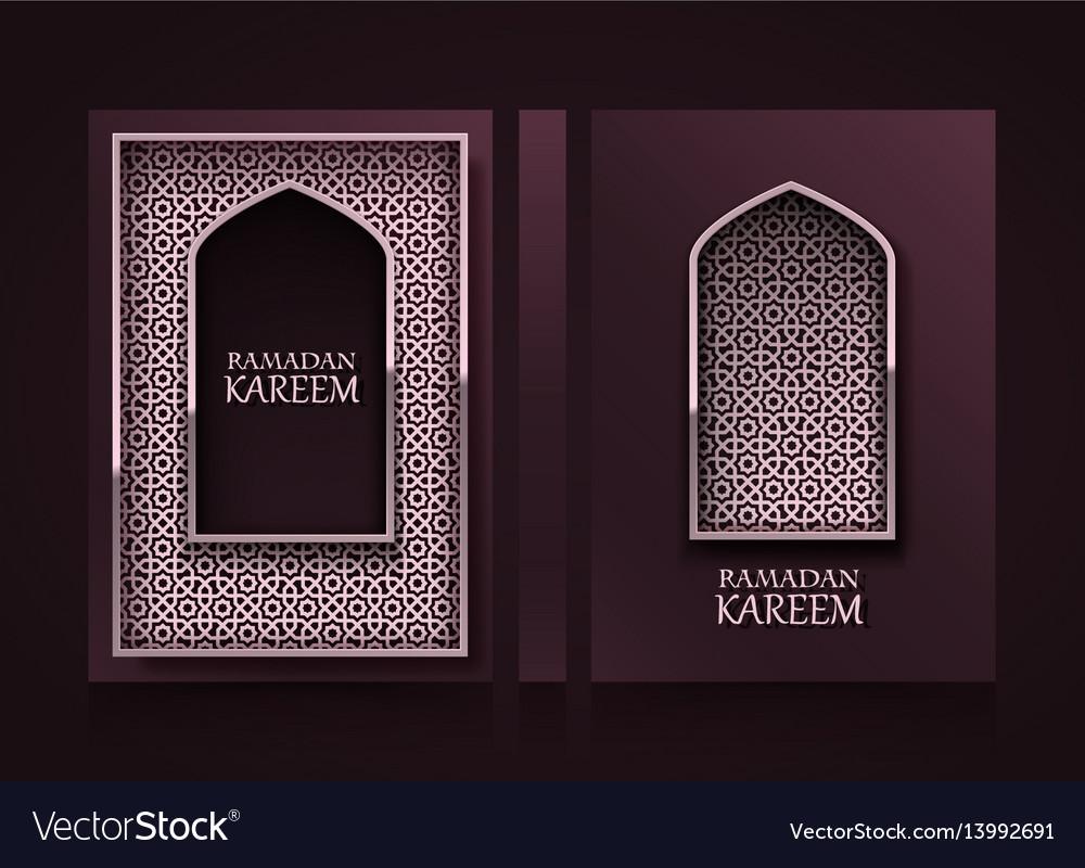 Modern vertical banners ramadan kareem cover