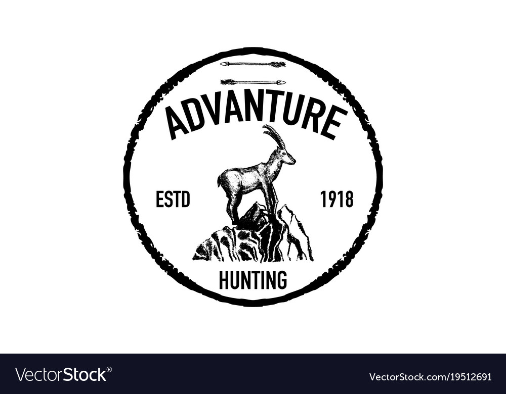 Mountain goat retro logo