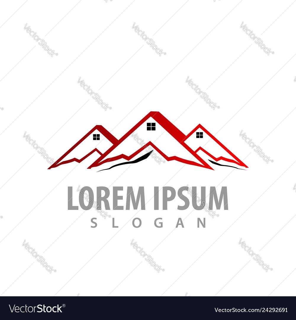 Mountains home concept design symbol graphic