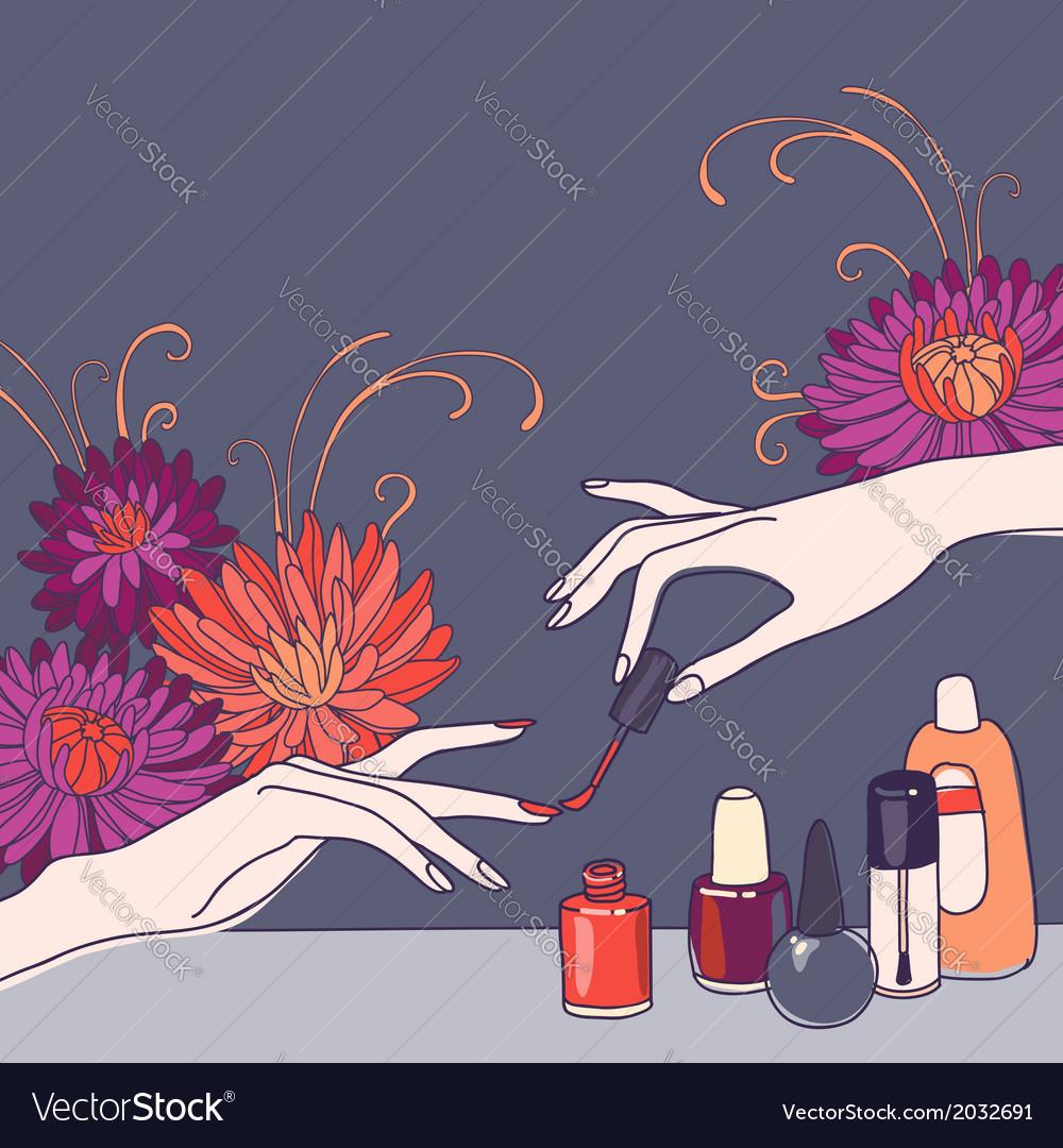 nail salon royalty free vector image vectorstock