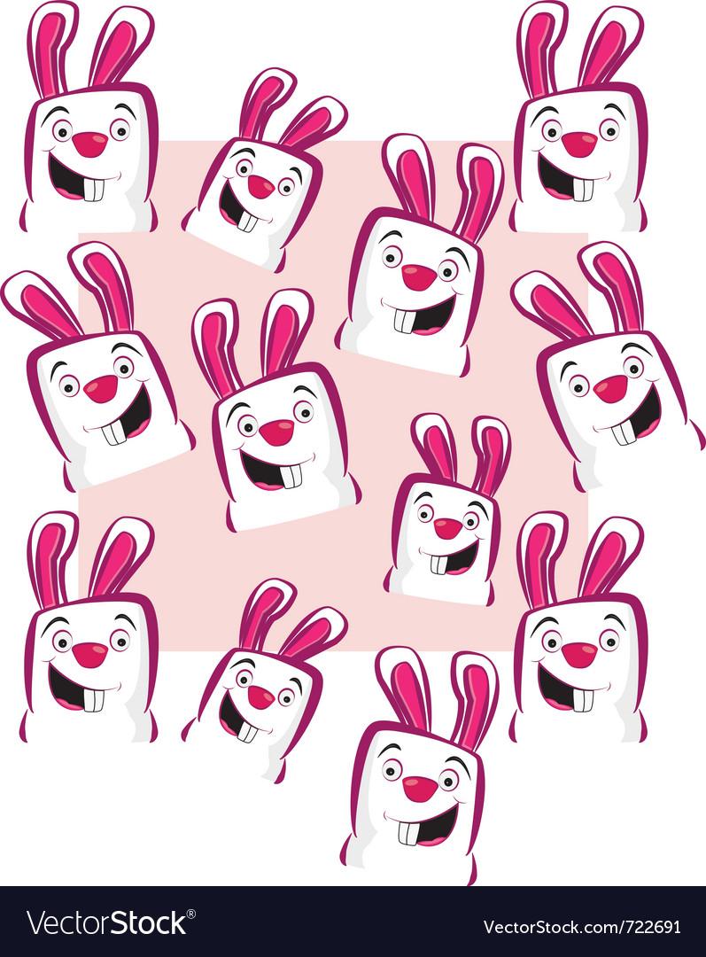 Pink rabbits vector image