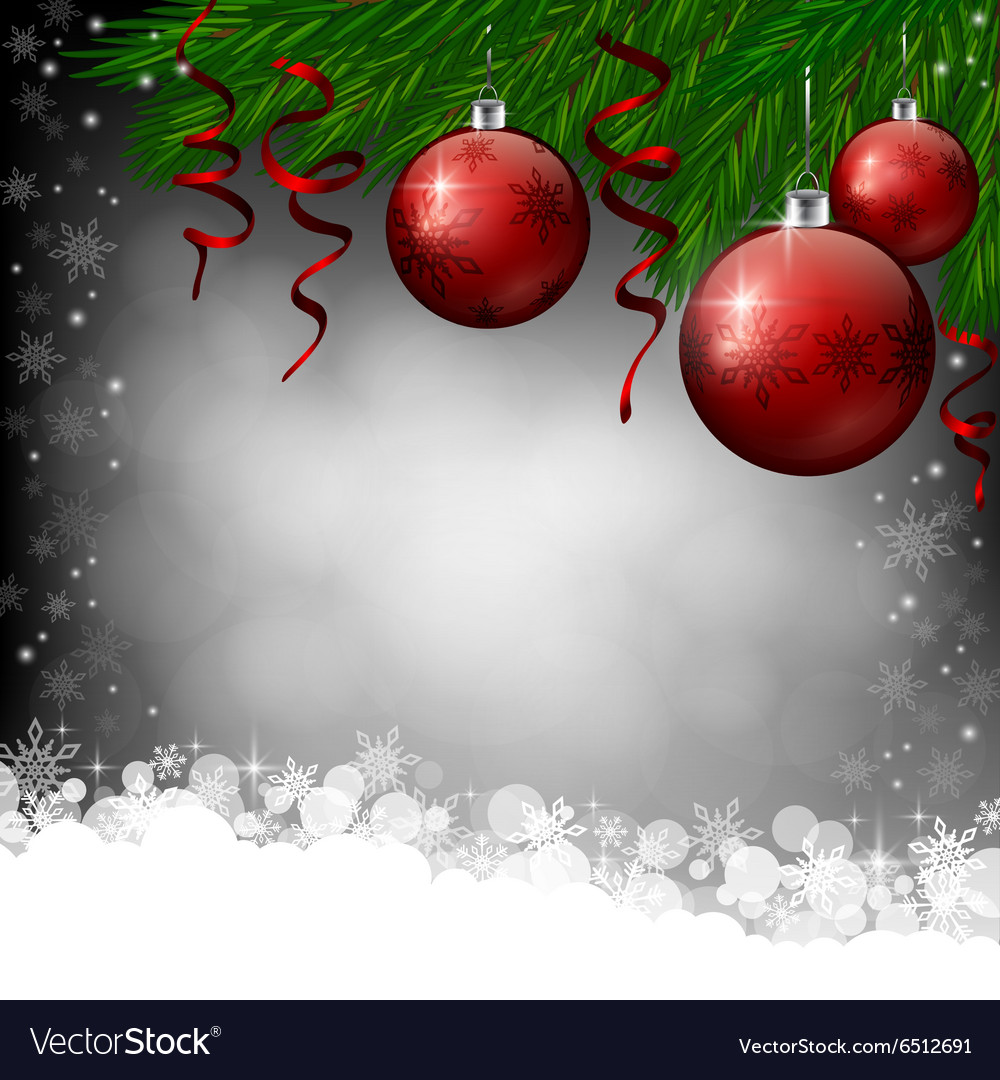 Red Christmas Decoration On Grey Background