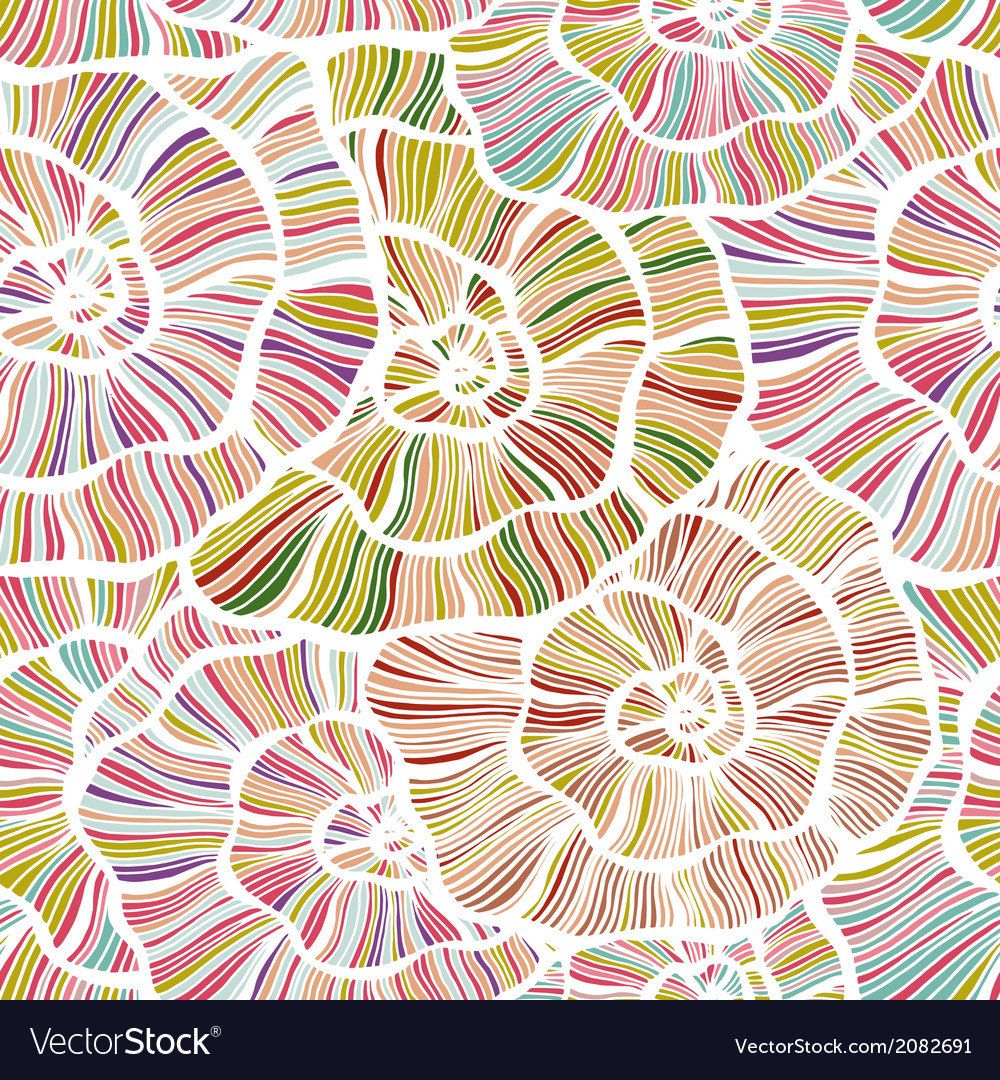 Seamless color floral background
