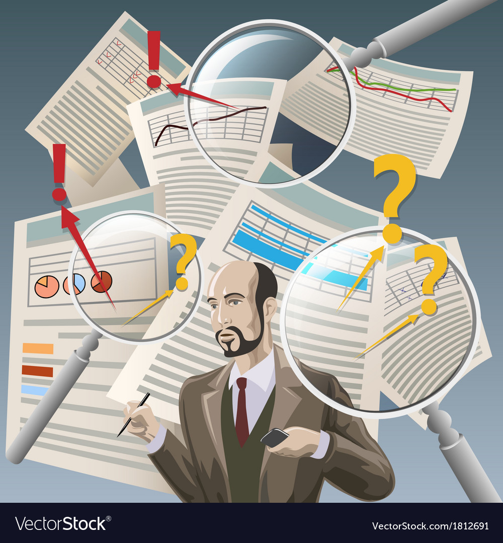 The Auditor vector image