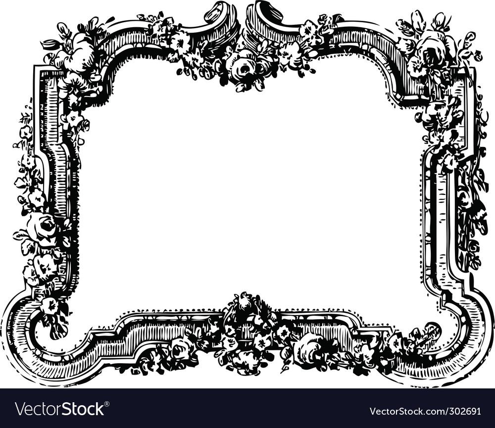 victorian floral frame royalty free vector image rh vectorstock com  victorian border frame vector