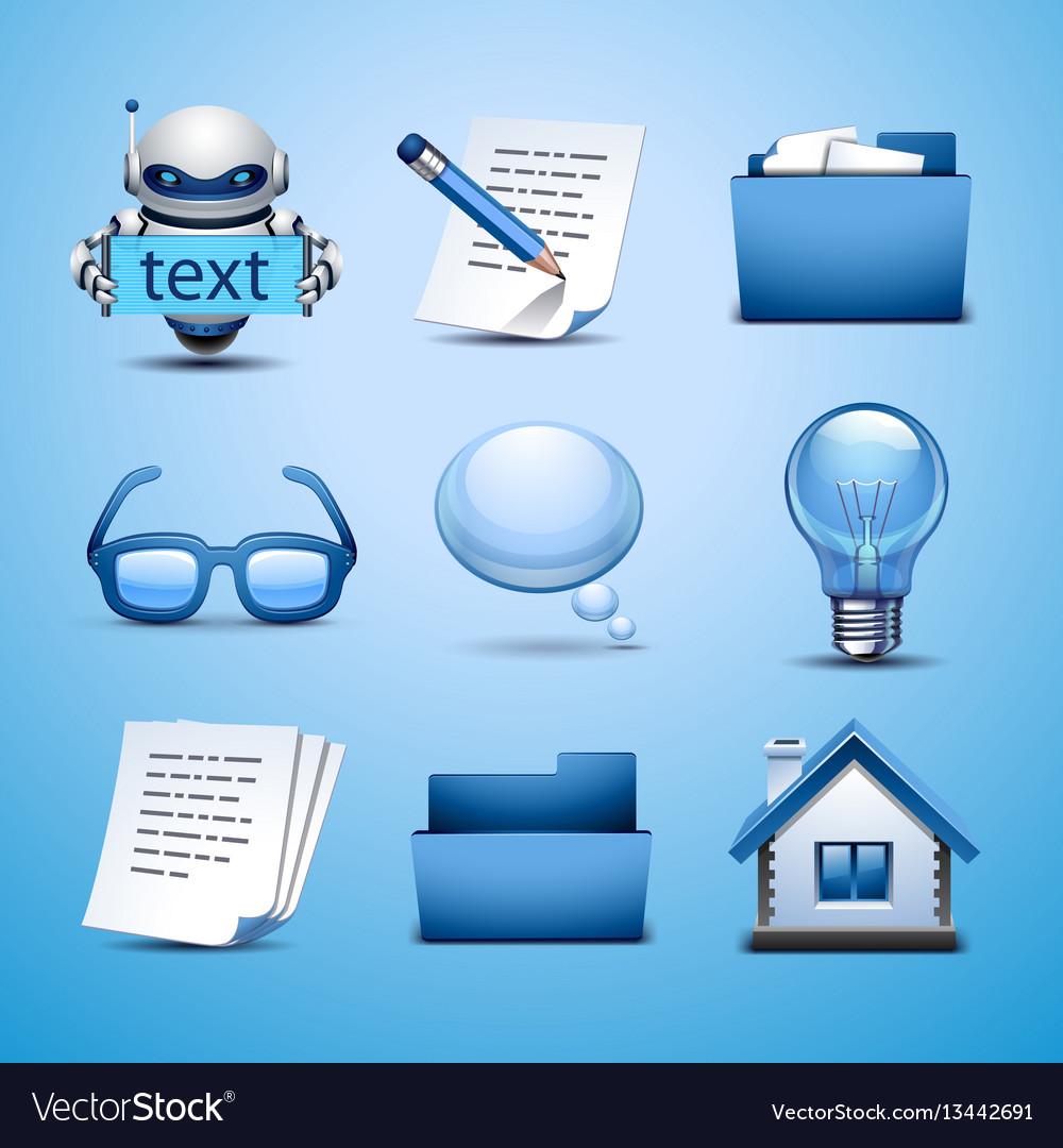 Web icon-blue set