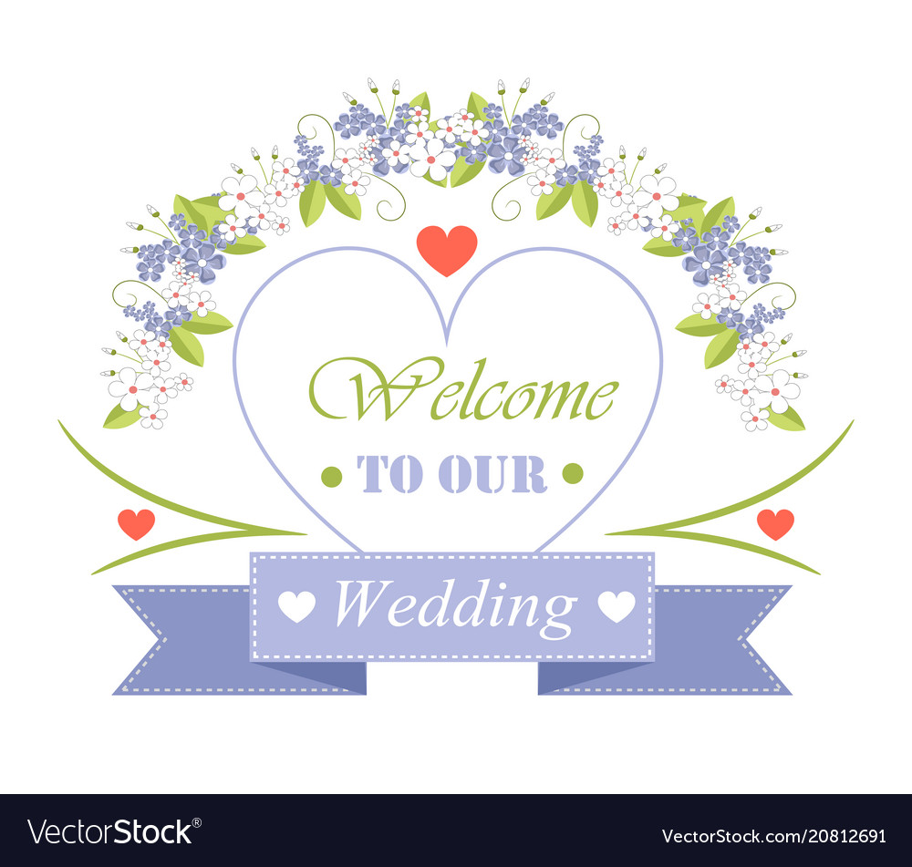 7387de492f1ea Welcome to our wedding festive invitation poster