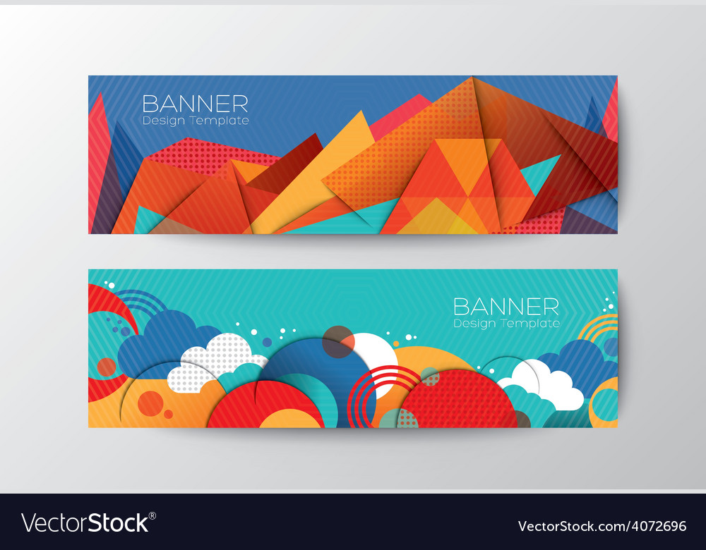 abstract colorful polygon cloud banner design temp