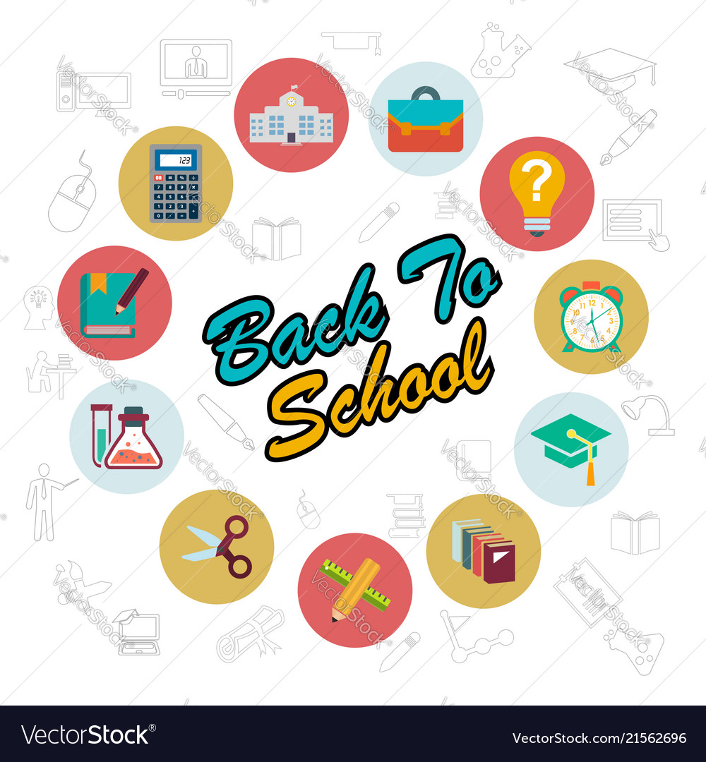 Back to school typographic design with stylish