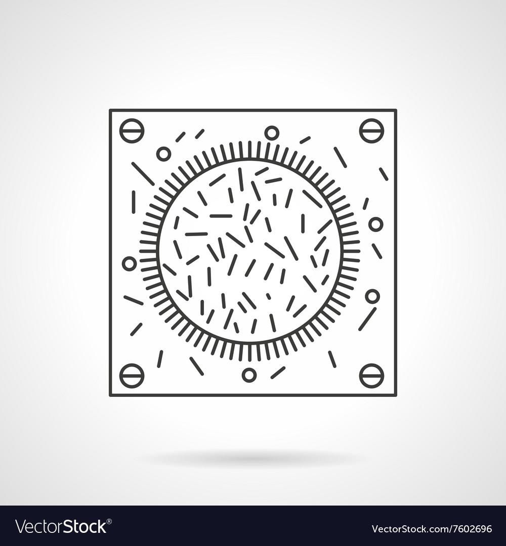Bacteria icon flat line design icon
