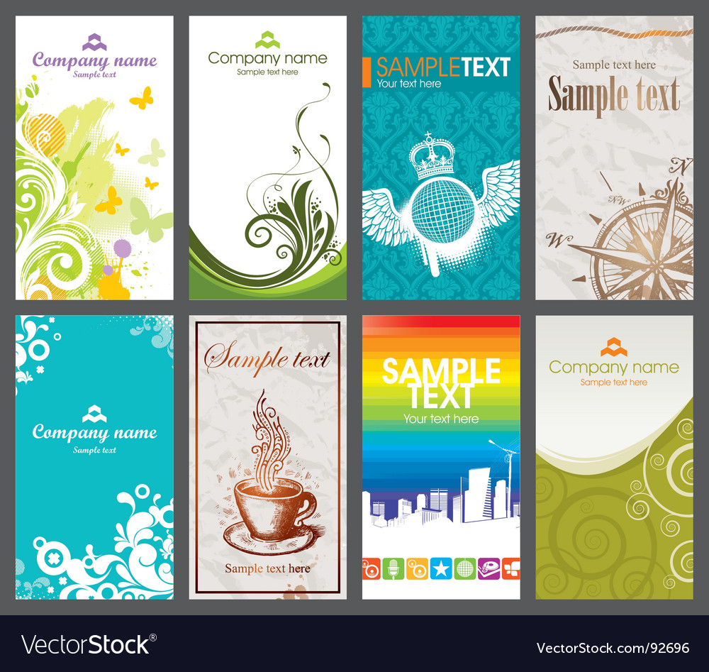 Collection vertical business card