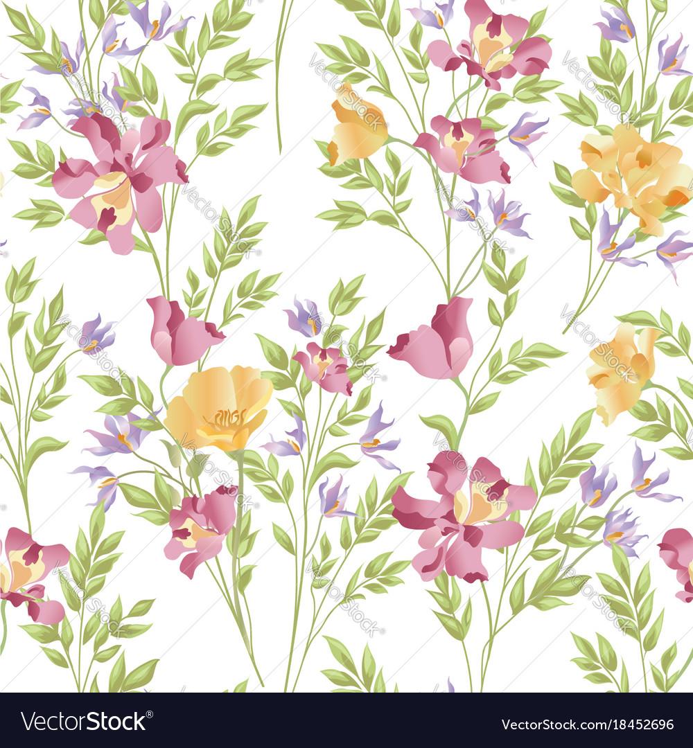 Floral seamless pattern flower bouquet background vector image izmirmasajfo