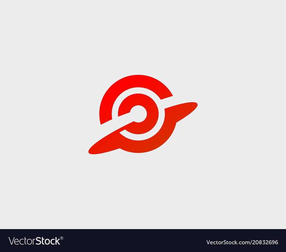 Goal target aim logotype abstract start success vector image