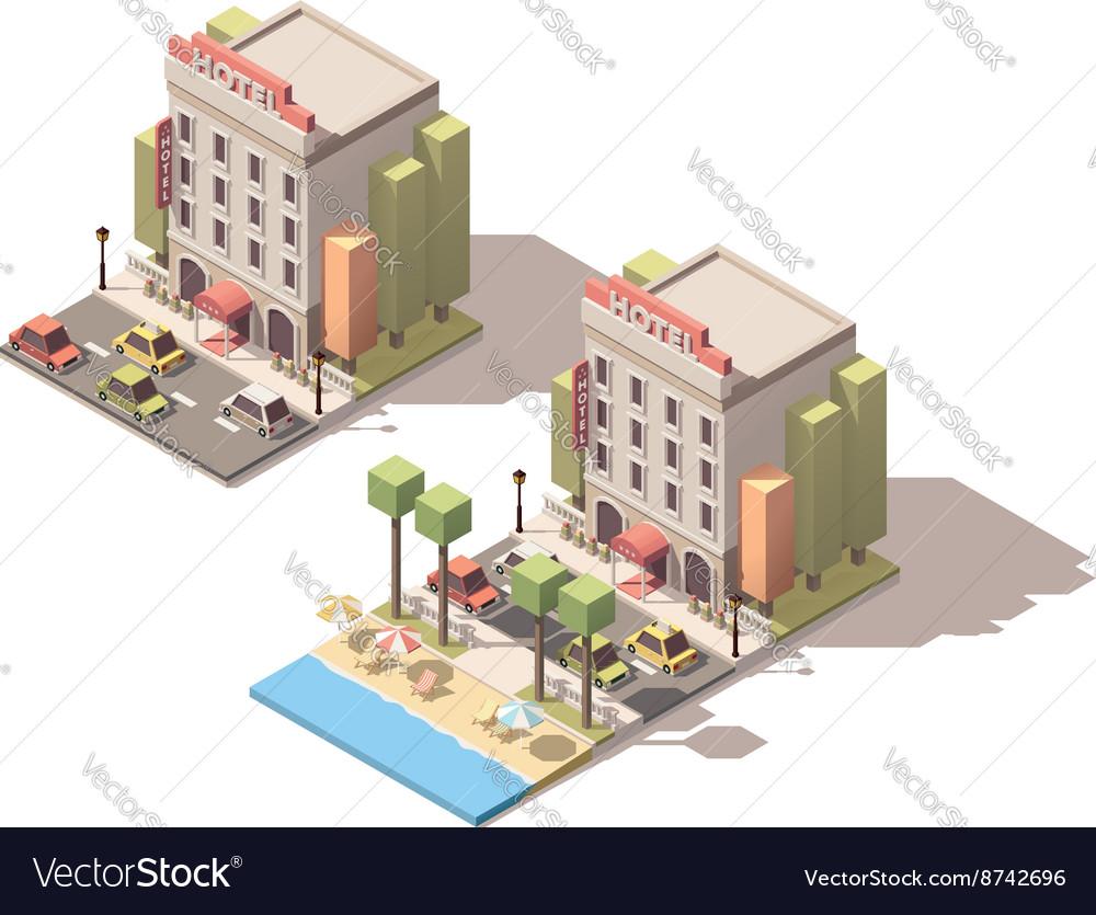 Isometric hotel building