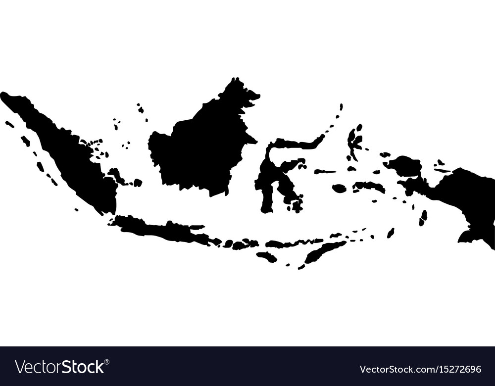Map of indonesia vector image Map of