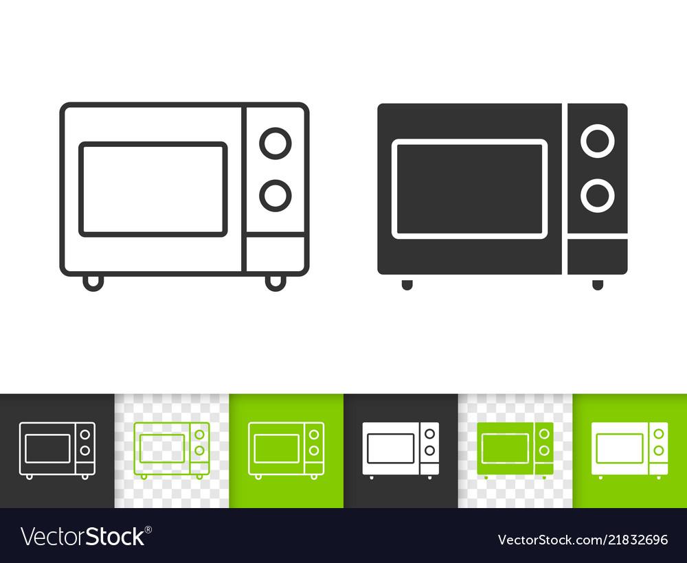 Microwave simple black line icon