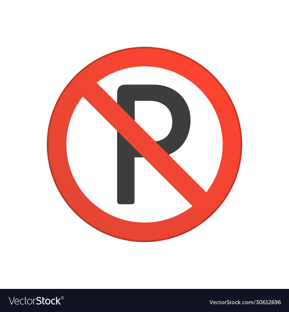 No parking red round sign