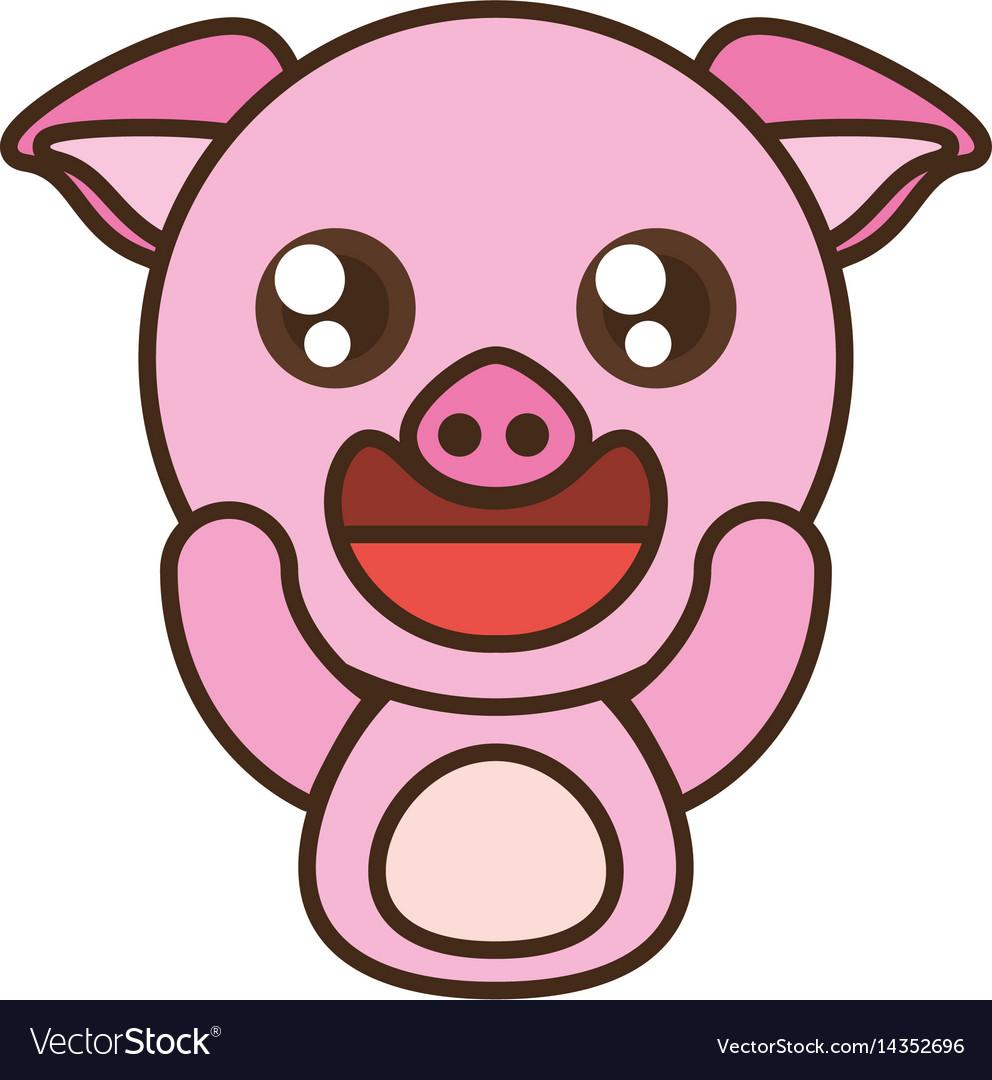 Pig baby animal kawaii design
