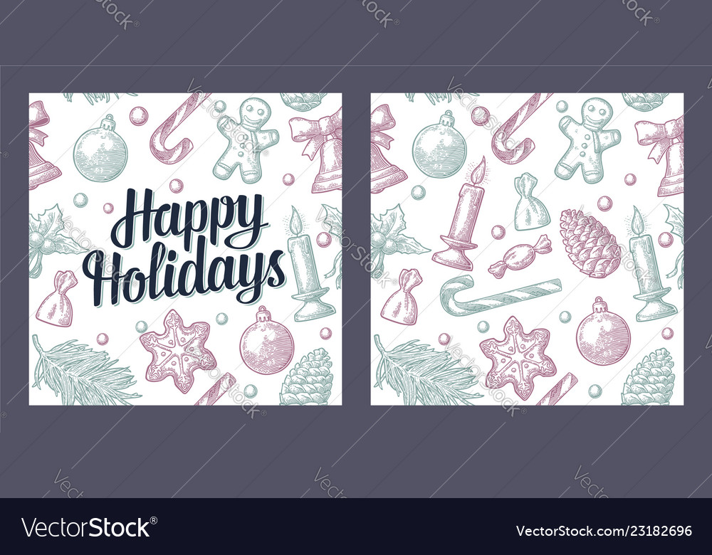 Seamless pattern for merry christmas and happy new