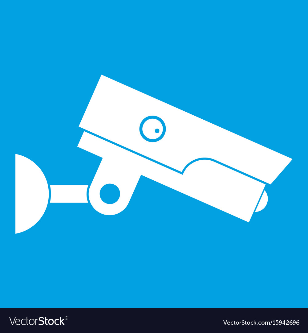 Security camera icon white