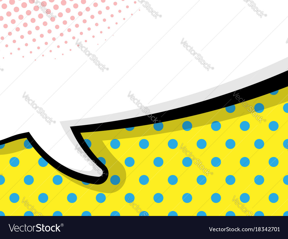 Abstract Blank Comic Book Speech Bubble Background