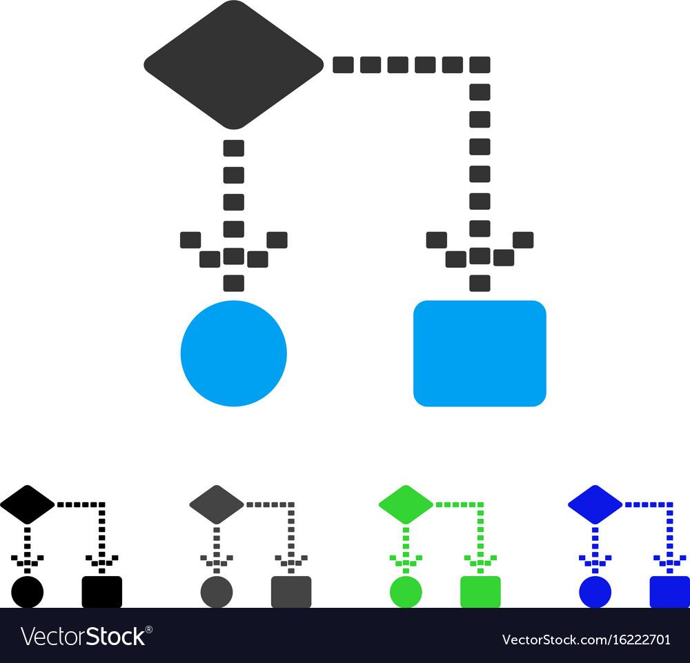 Algorithm scheme flat icon