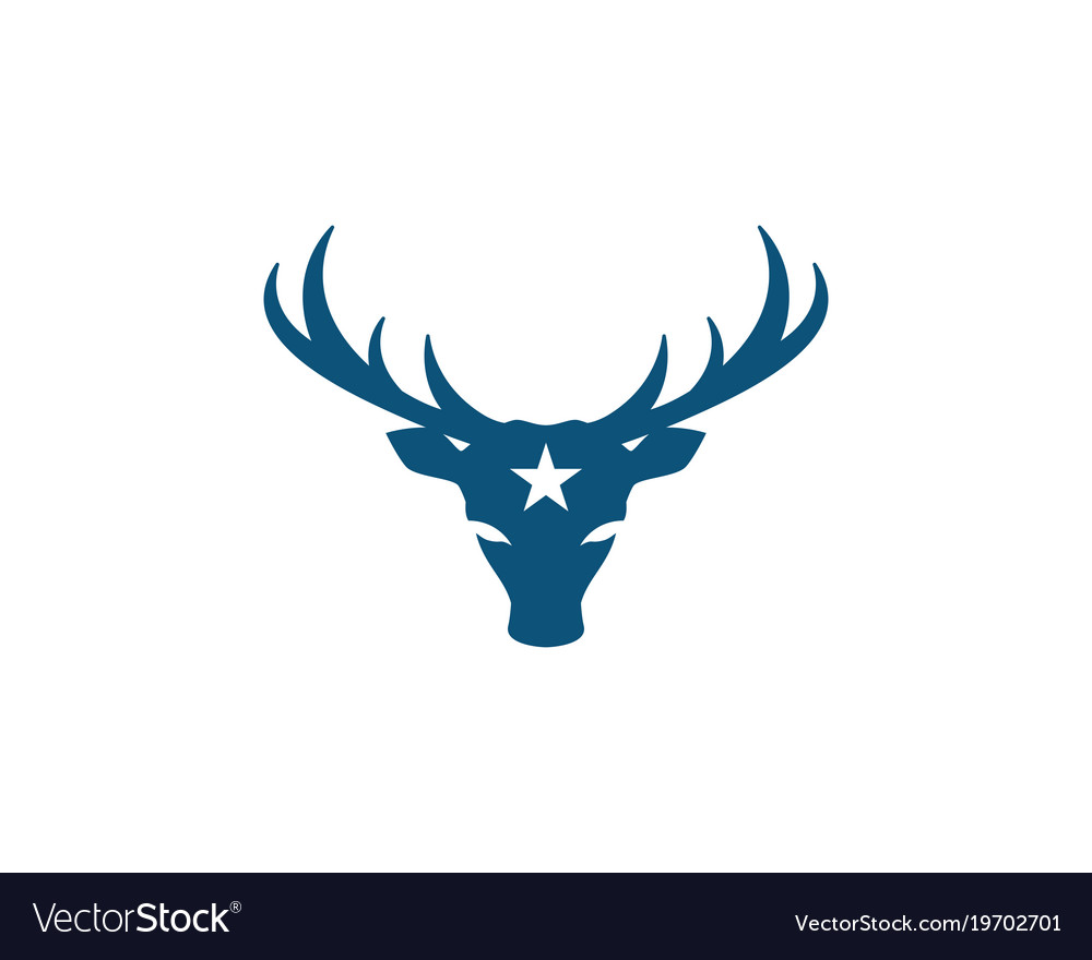 deer logo template icon royalty free vector image