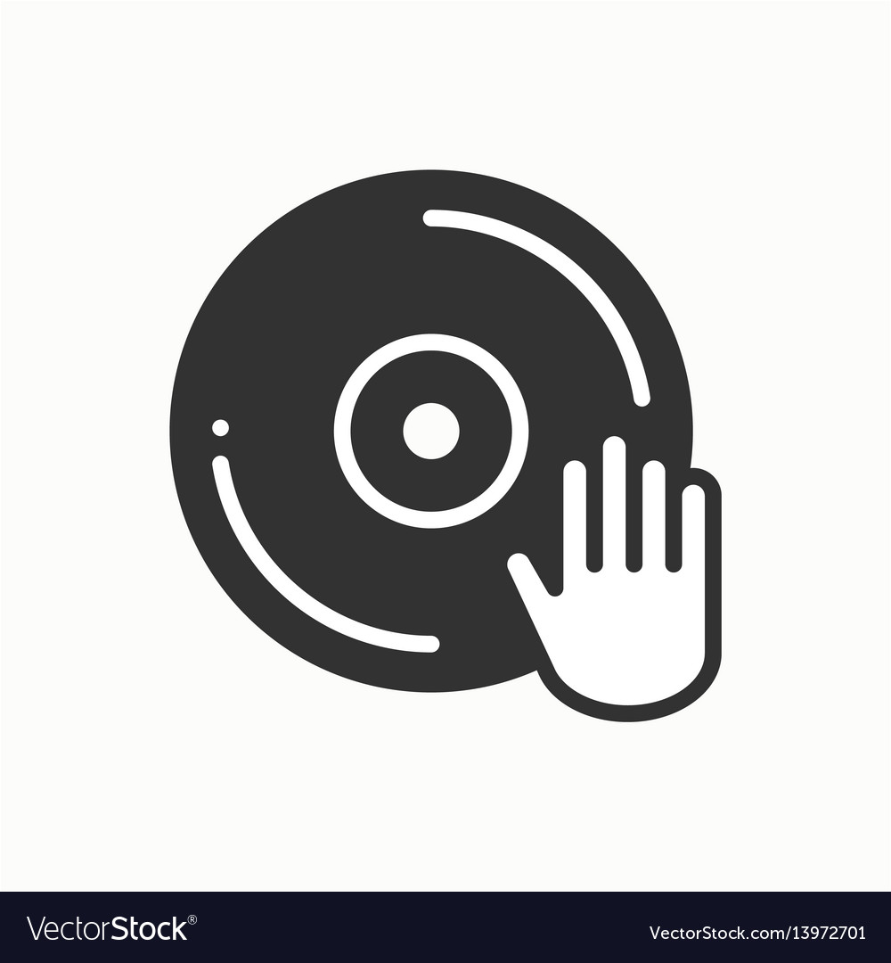 Dj disk jockey turntable icon vinyl record disco