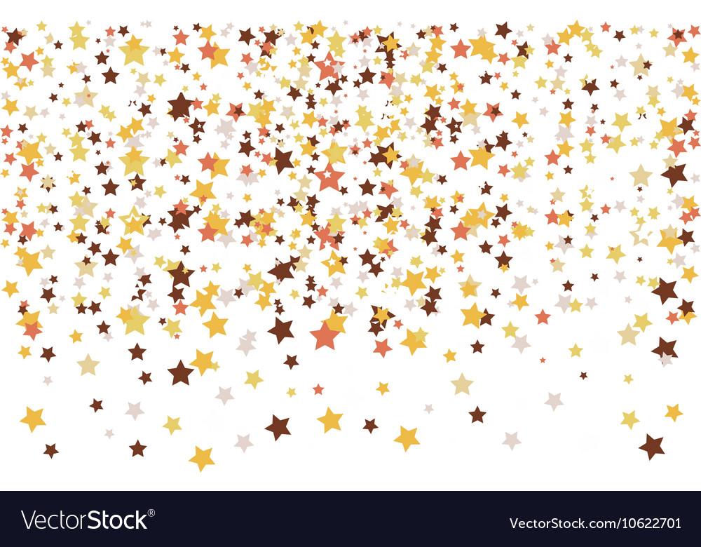 Gold stars confetti vector image