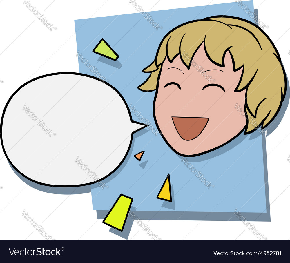 Happy anime girl vector image