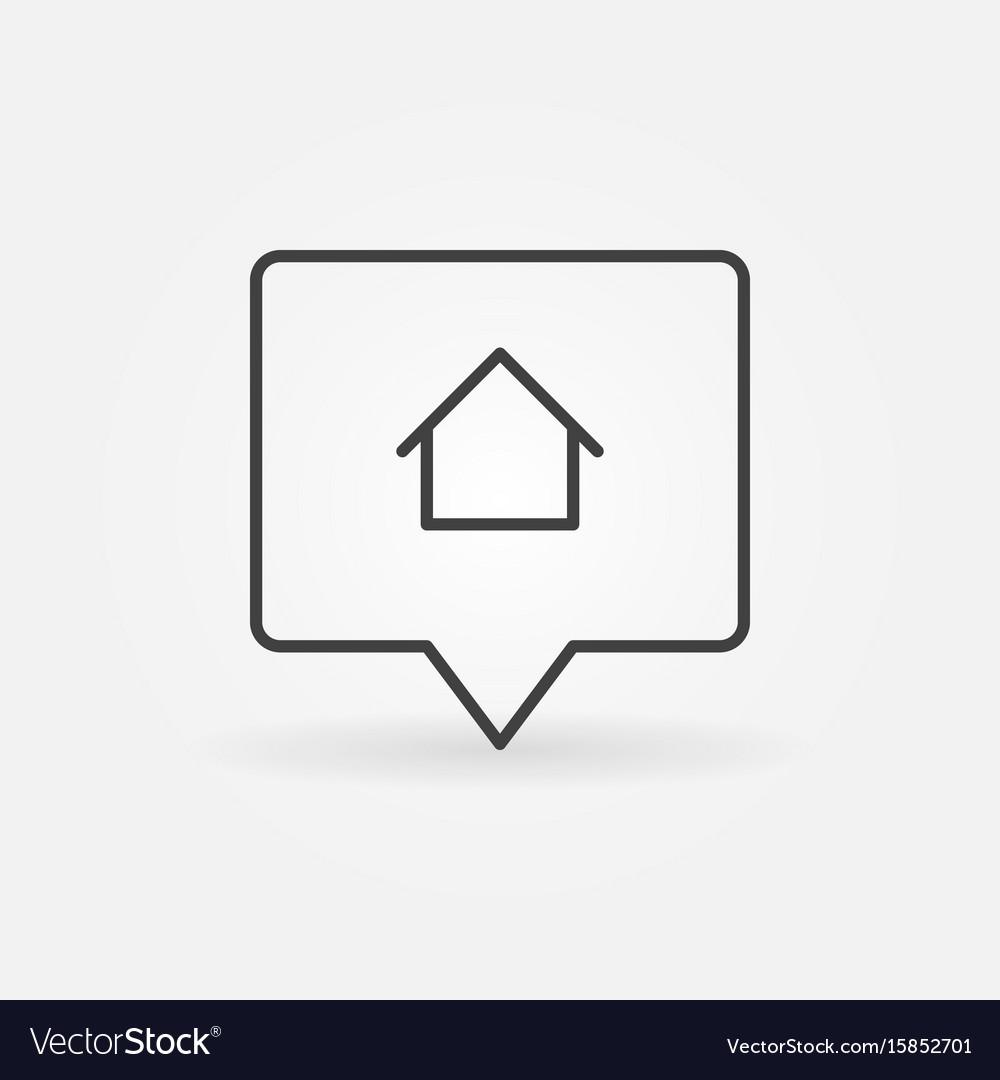 House location line icon