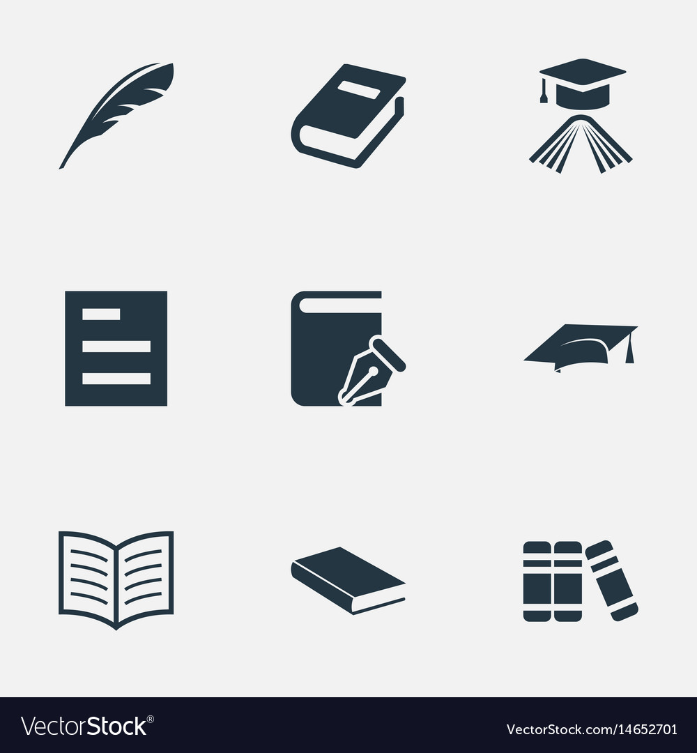Set of simple knowledge icons