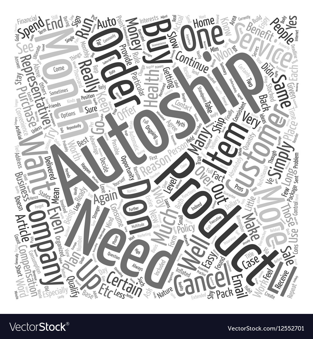 The Myth Of AutoShip text background wordcloud
