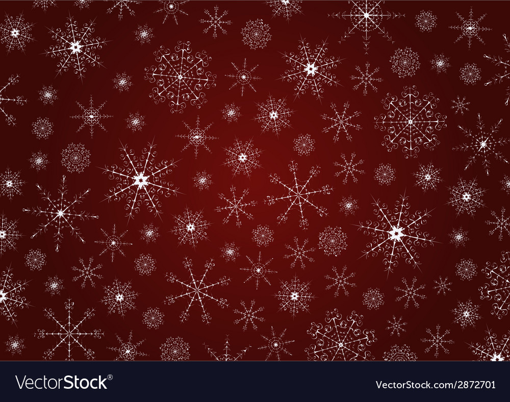 Traditional Christmas snowflakes background