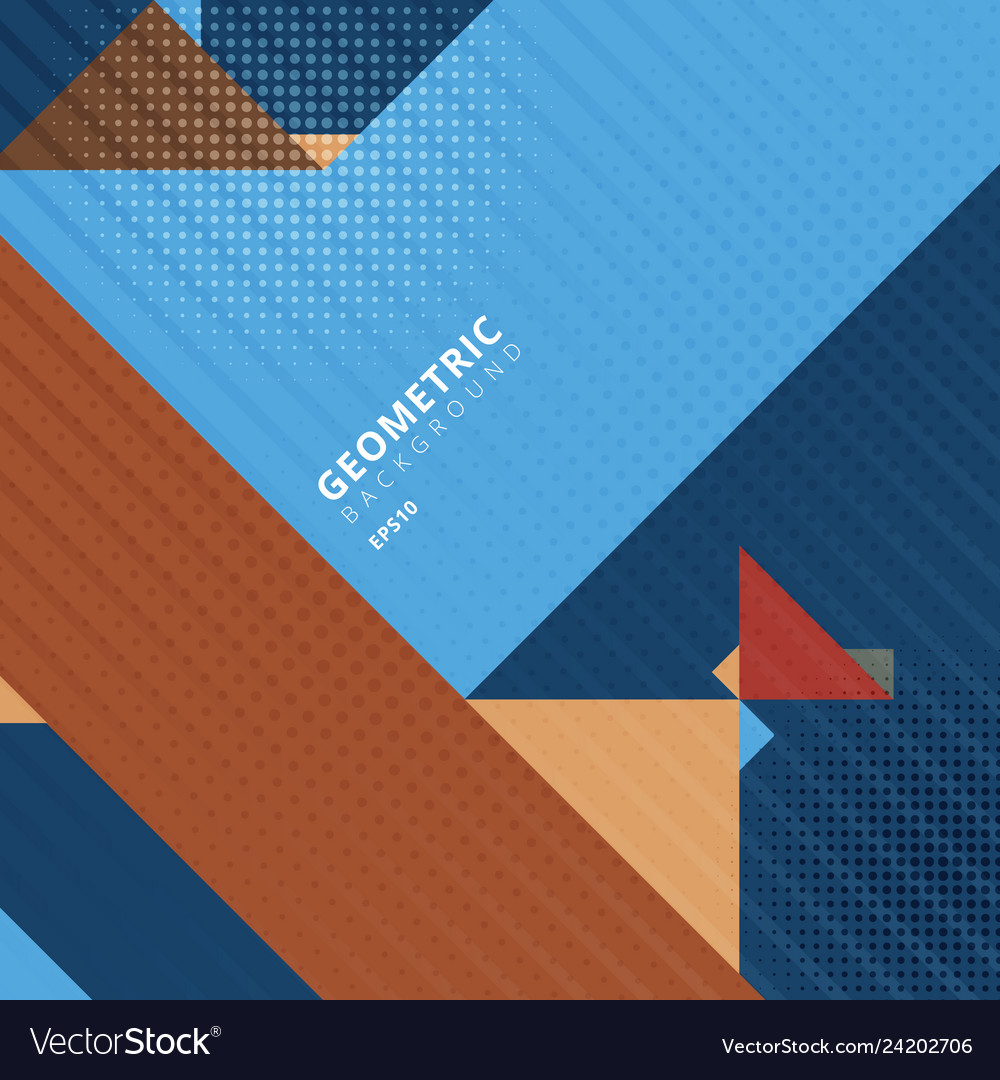 Abstract template triangles geometric shapes