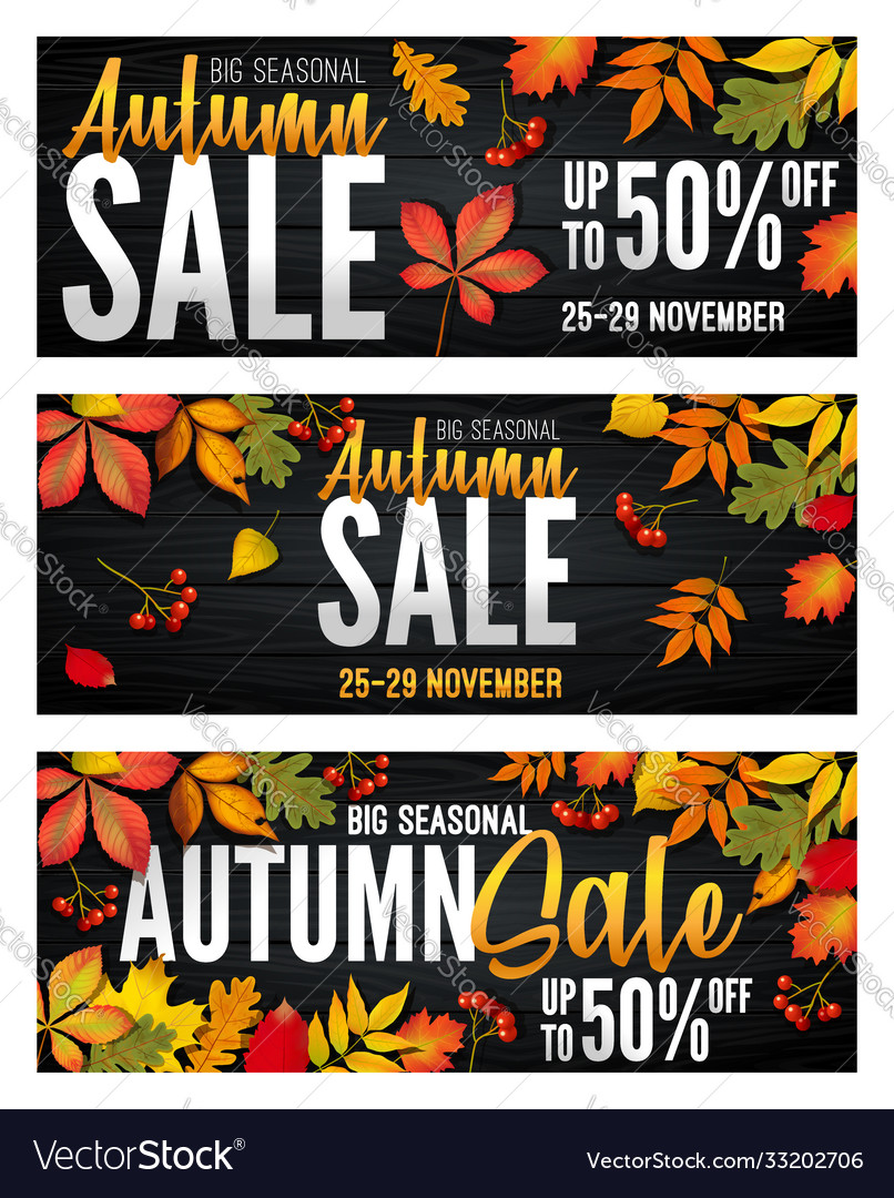 Advertising banners set - autumn sale at end
