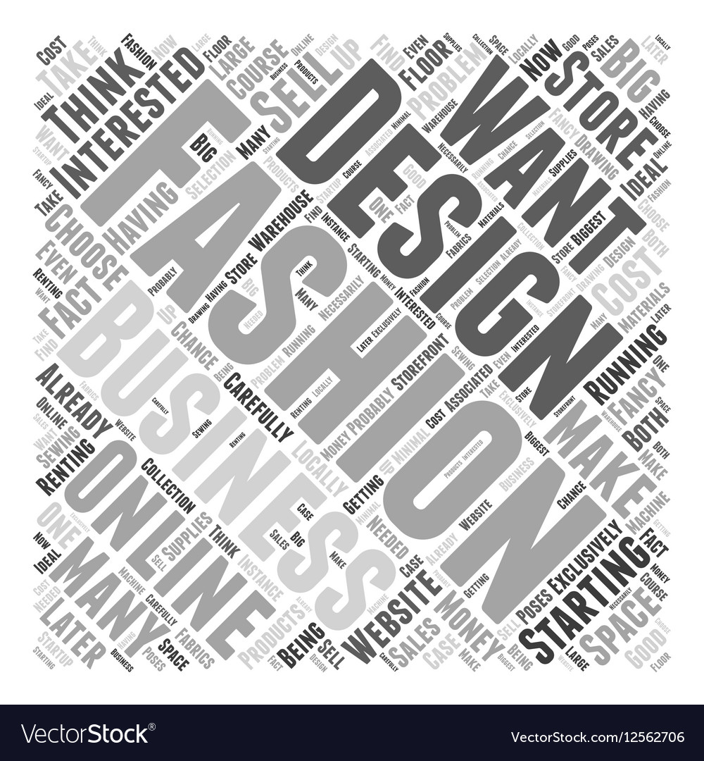 Can You Make Money As A Fashion Designer Word Vector Image
