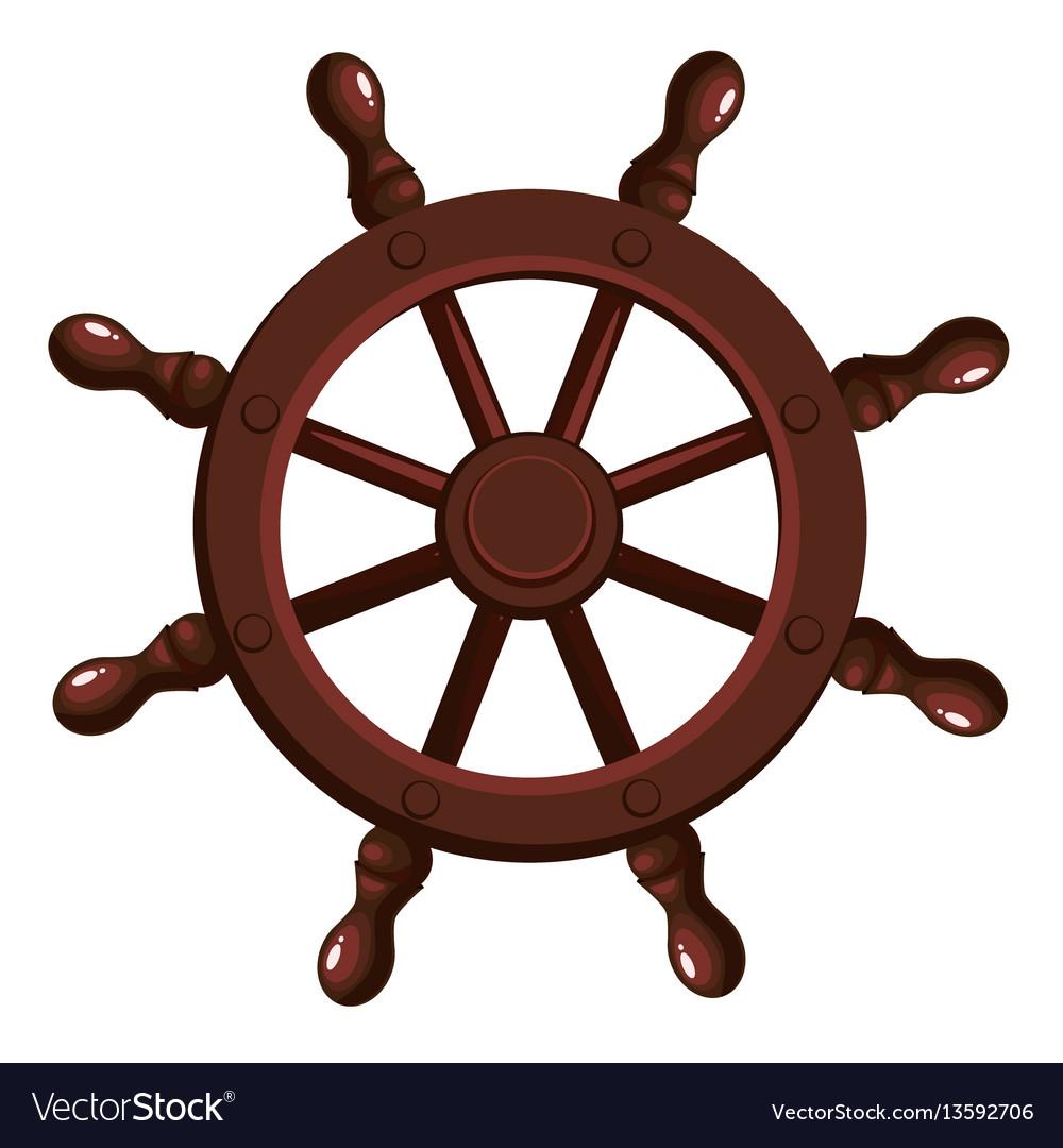 Cartoon ship s wheel