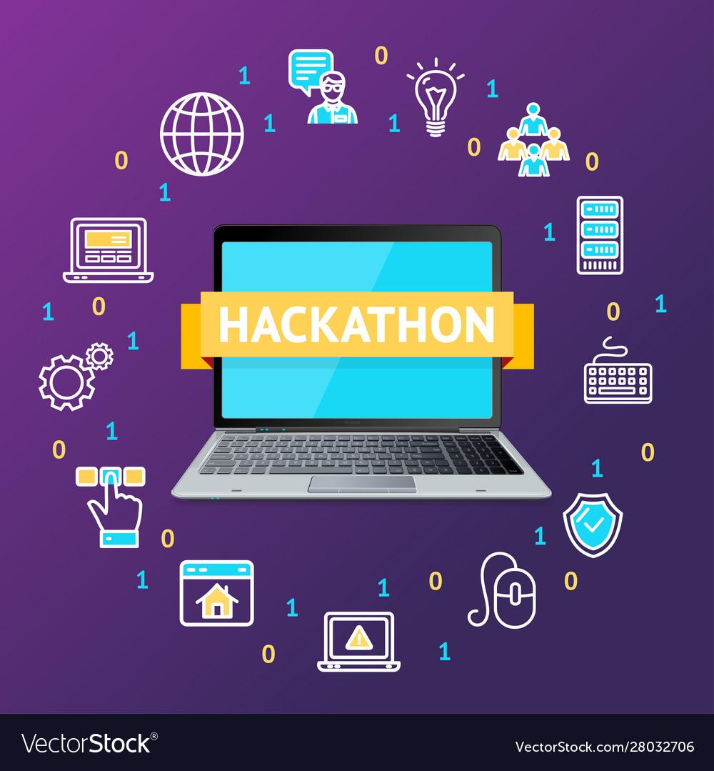 Hackathon concept with realistic detailed 3d