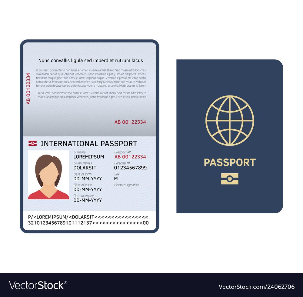 Passport document id international paper passport