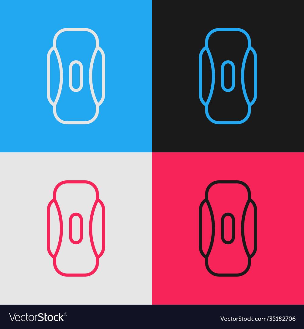 Pop Art Line Menstruation And Sanitary Napkin Icon