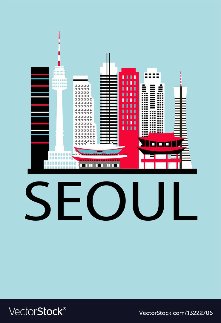 Seoul city travel background