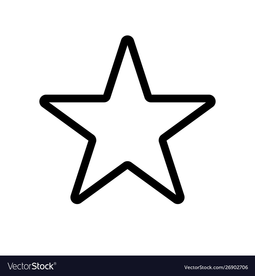 Star icon star icon rating symbol Royalty Free Vector Image