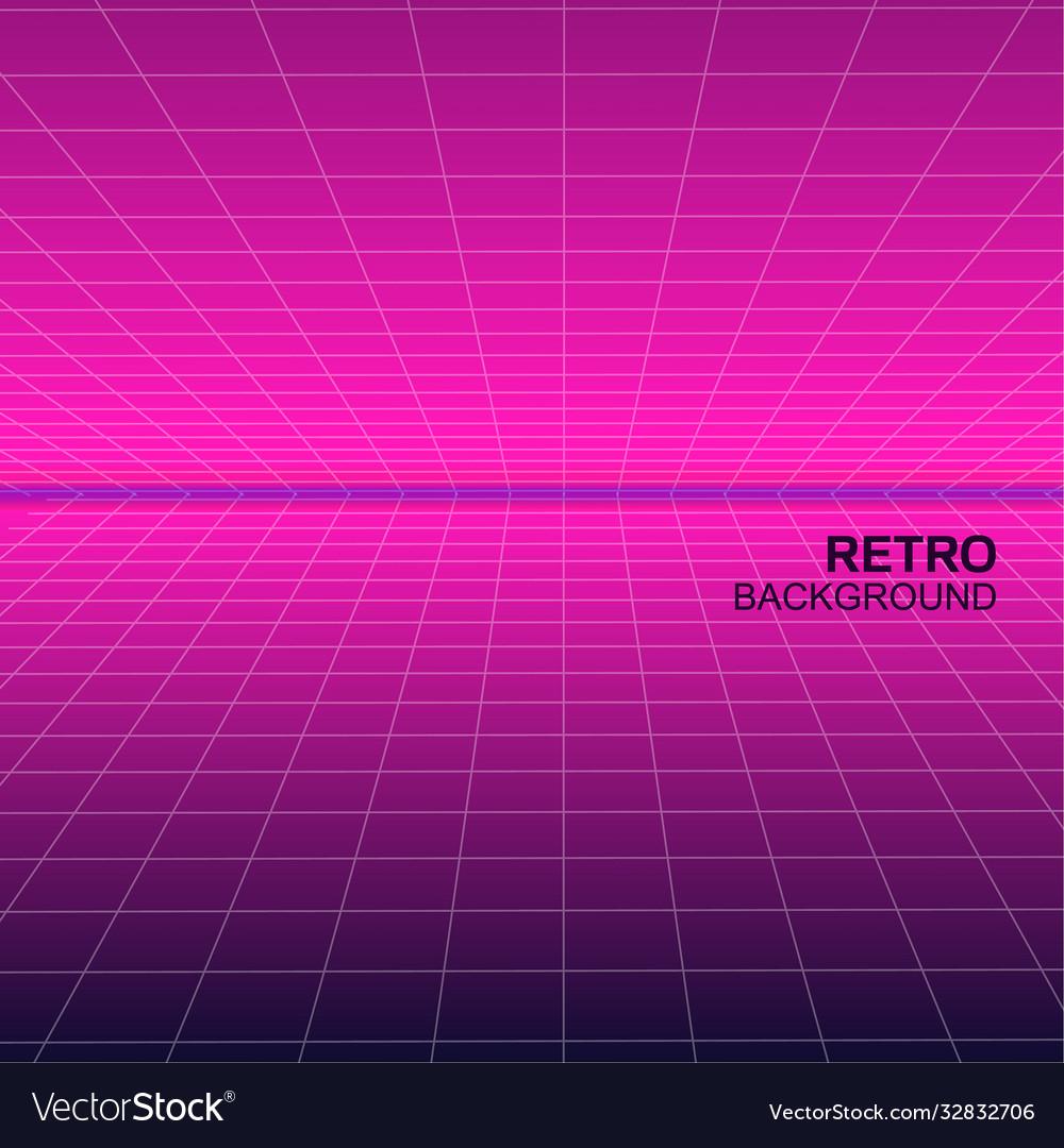 Synthwave retro poster design