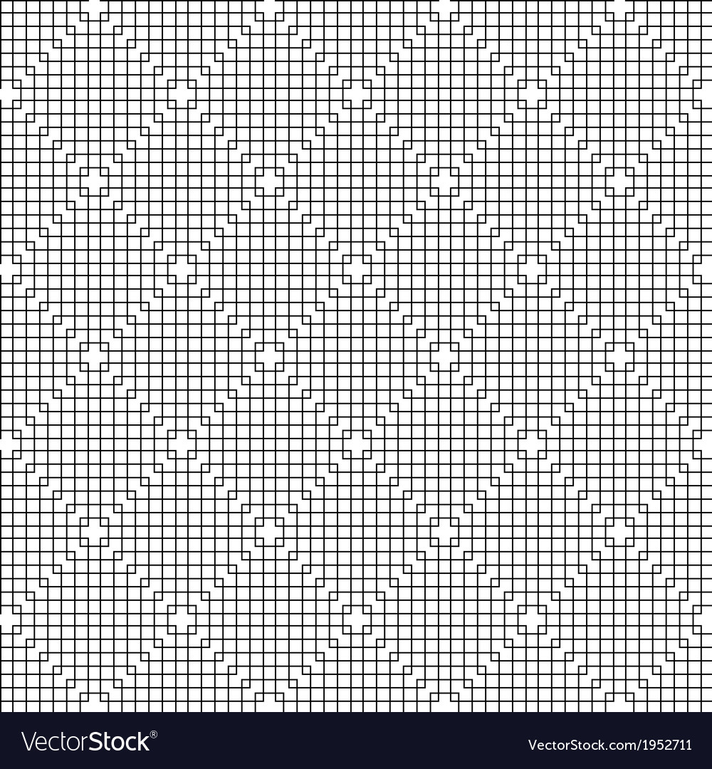 Abstract Black Line Squares Pattern