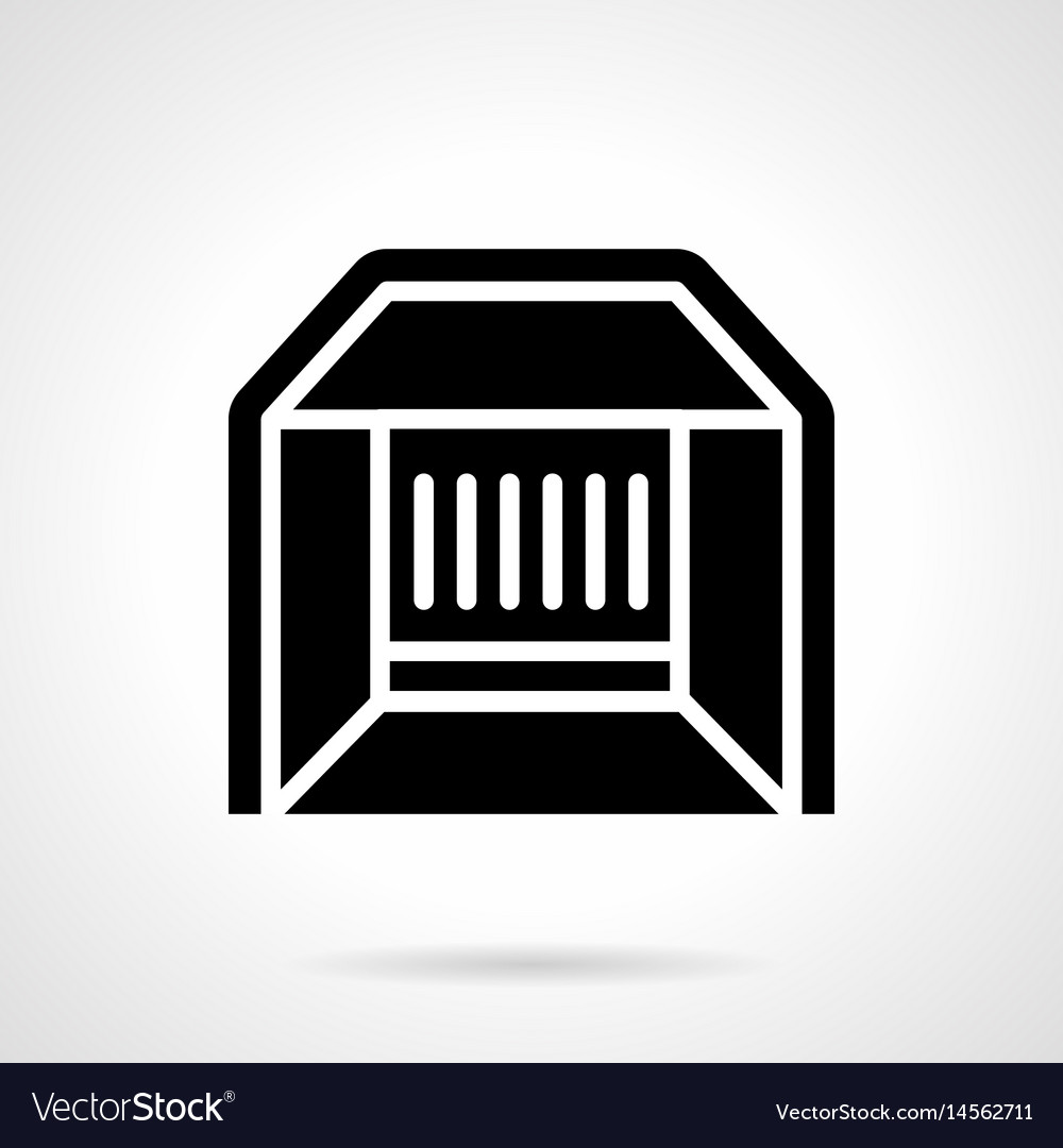 Exhibition Stall Icon : Market stall glyph style icon royalty free vector image