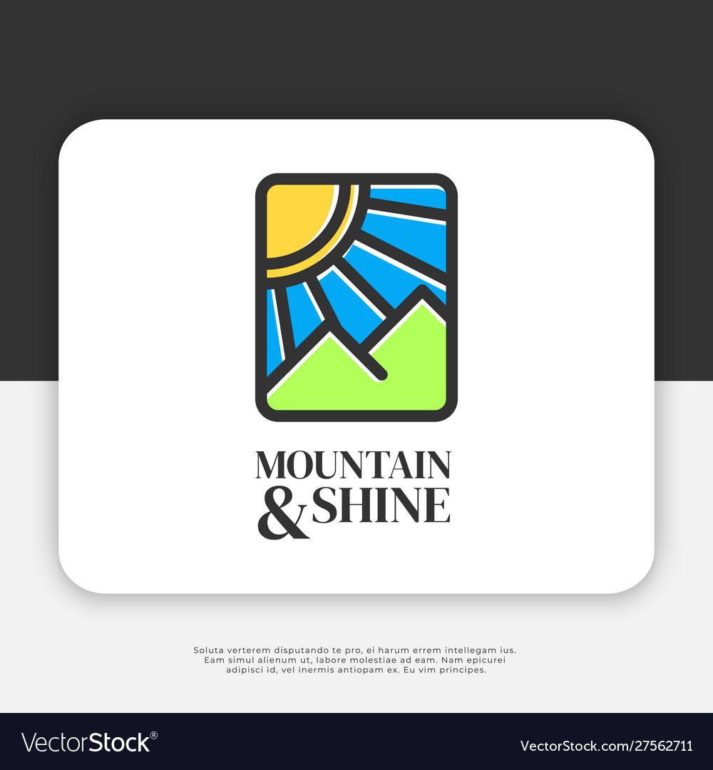 Mountain and shine logo design inspiration