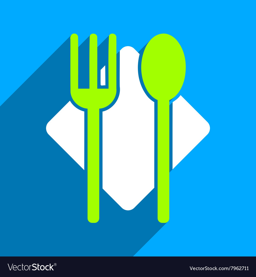 Nutrition Flat Square Icon with Long Shadow