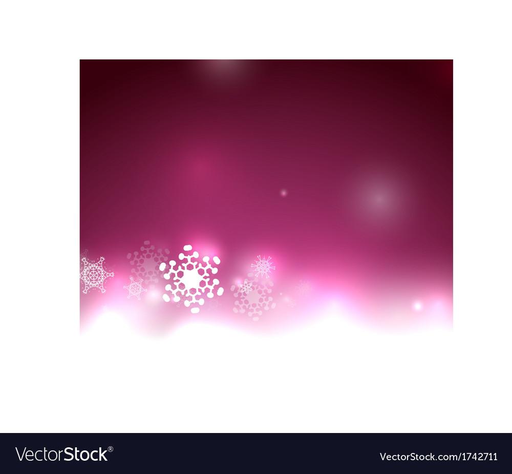 Purple Christmas lights and snowflakes